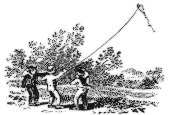 Thomas Bewick flying a kite