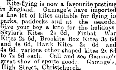 Christchurch Star NZ 7th Jan 1910