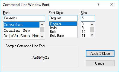 command-line-font-size
